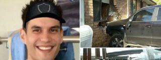 Michael Mills, borracho como una cuba, se estrella contra una casa a toda velocidad