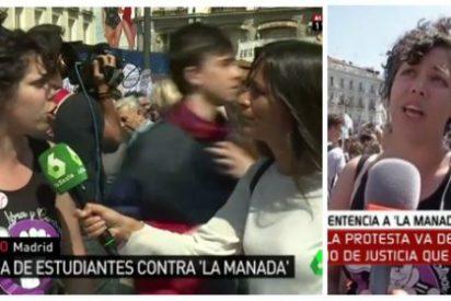 ¡Qué 'potra' tienen Ferreras y Javier Ruiz que siempre pillan a la sindicalista estudiantil en su hora de recreo!