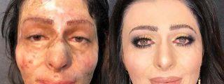 La impresionante reacción de esta mujer al verse maquillada por primera vez