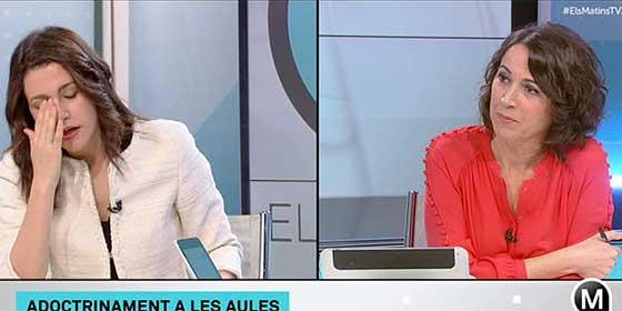 Arrimadas, desesperada ante el sesgo chusco de la TV3, le mete un corte épico a su entrevistadora