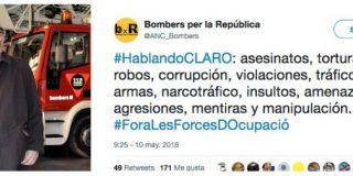 Los bomberos catalanes incendian Twitter acusando a la Policía y Guardia Civil de asesinos y violadores