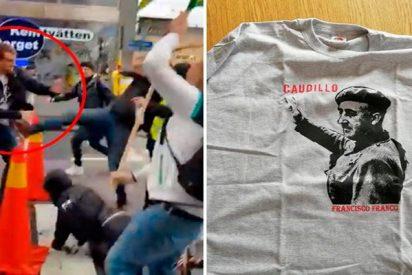 Un youtuber lleva una camiseta de Franco a la manifestación del 1 de Mayo en Suecia y recibe paliza