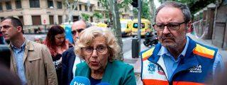 Dos obreros siguen desaparecidos tras el derrumbe de un edificio en el centro de Madrid