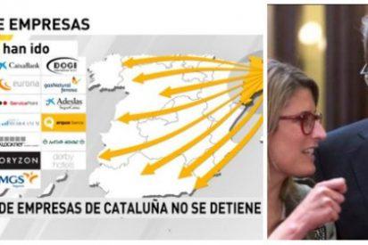 Tiembla Cataluña: 4.000 empresas fugadas desde el 1-O y de propina el xenófobo Torra, presidente