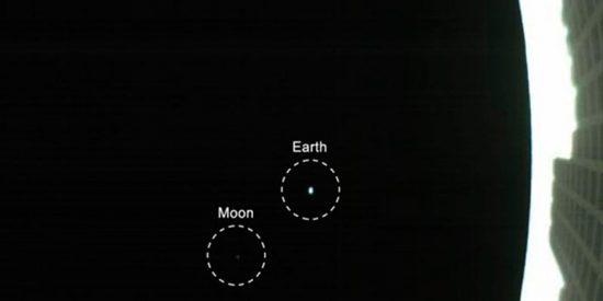 Así de minúsculas se ven la Tierra y la Luna, vistas de CubeSat a un millón de kilómetros