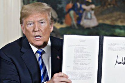 Donald Trump cumple, rompe con los ayatolás de Irán y el mundo tiembla