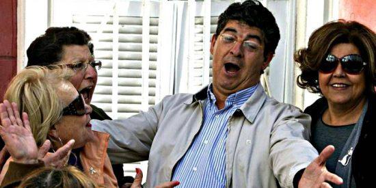 Diego Valderas (IU) y 'la de las tetas gordas'