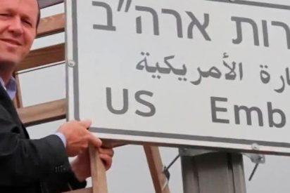 Colocan letreros en el lugar de Jerusalén donde estará la nueva Embajada de EE.UU. en Israel