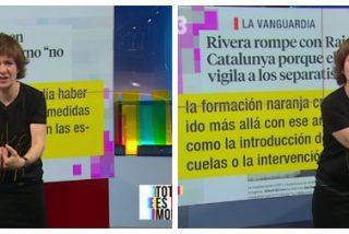 "La bufona separatista reta a España a intervenir TV3: ""¡Que intervengan! ¡Que nos lleven presos!"""