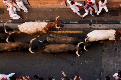 Así cornea brutalmente este toro a un hombre en Valencia