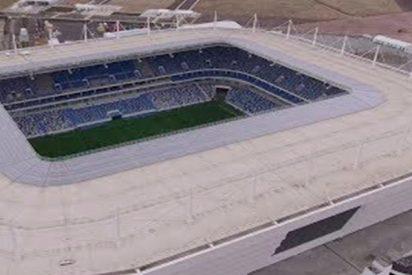 Espectacular vista aérea del estadio mundialista de Kaliningrado