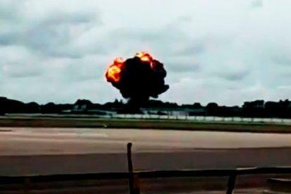 Imágenes grabadas segundos después del accidente del Boeing 737 en Cuba