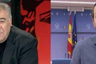 Pablo Iglesias no disimula su tremendo malestar con García Ferreras contestando a sus preguntas con monosílabos y mucha desgana