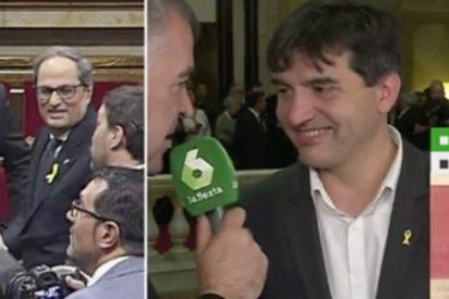 """La sucia mentira del risitas de ERC a Ferreras en su cara: """"Vamos a tener un gobierno progresista y para todos"""""""