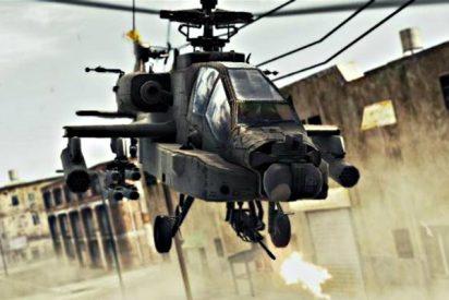 Así ve a sus presas el piloto del Apache, cuando sale a cazar terroristas islámicos