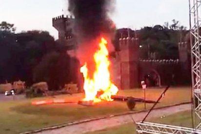 ¡Impactante! El helicóptero llevaba a una novia y se estrelló delante de los invitados a la boda