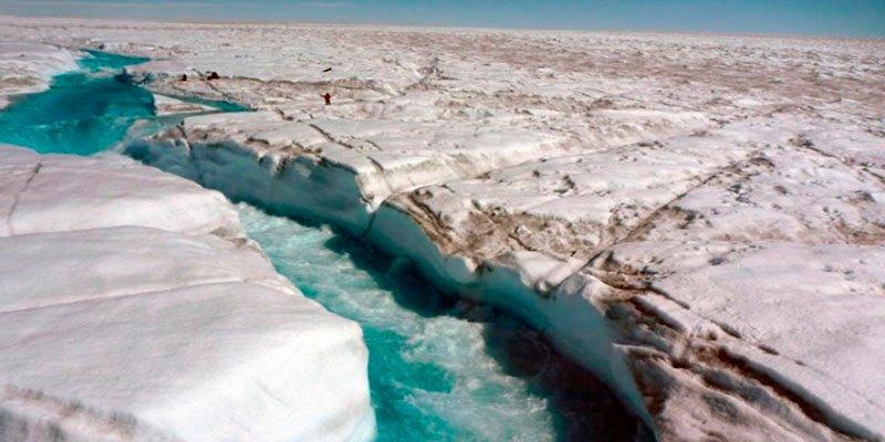 Descubren una franja de hielo especialmente sensible en Groenlandia
