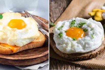 huevos nube, muy ligeros