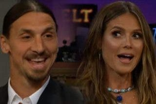 Tensión sexual entre Ibrahimovic y Heidi Klum, con zasca a Cristiano Ronaldo incluido