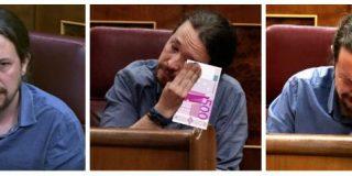 'Cuando te llega el IBI': Twitter masacra a Pablo Iglesias por su 'gran actuación' llorando en el Congreso