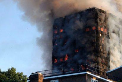Terrible incendio en un edifico de 10 pisos