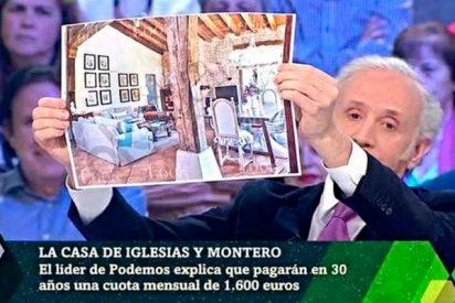 La Sexta 'censura' las fotos del lujoso chalet de Iglesias y Montero, pero Inda les revienta la jugada