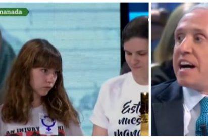 """Eduardo Inda pone en su sitio a una zafia sindicalista estudiantil: """"Tú eres una fascista"""""""