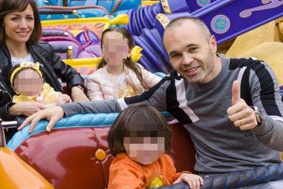 Iniesta disfruta con su familia antes de instalarse en Japón