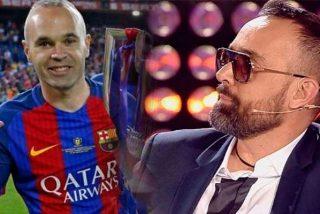 Andrés Iniesta 'provoca' un accidente en la grabación del 'Chester' de Risto Mejide