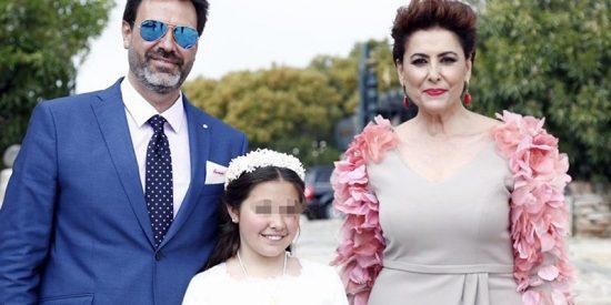 El comentado detalle del vestido de Irma Soriano en la comunión de su hija