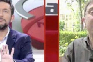 """Javier Ruiz ni se inmuta cuando Monedero llama """"sinvergüenza"""" a Eduardo Inda y solo reacciona para salvaguardar el buen hacer de su programa"""