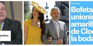 La prensa digital del odio enloquece: que la mujer de Clooney fuera a la boda real de amarillo es una bofetada a España