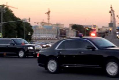 Los coches del proyecto ruso Kortezh salen del Kremlin
