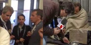 Le arrojan una moneda a Manolo Lama para recordarle el episodio de la humillación a un mendigo alemán