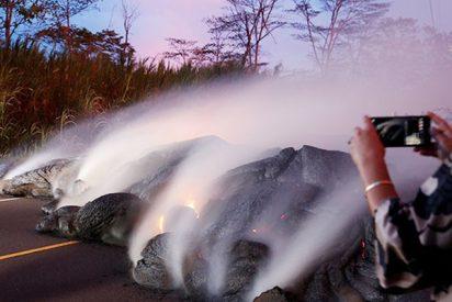 Por esto no es recomendable asar malvaviscos sobre un volcán en erupción