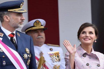 Letizia repite un mes después su look Carolina Herrera primaveral
