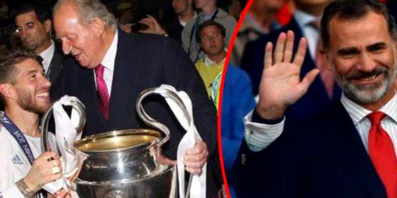 Felipe VI manda a su padre a la final de la Champions