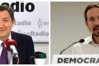 "Losantos rompe en dos al falso de Pablo Iglesias: ""Este trilero pasa de no querer nada a ir pidiendo ministerios"""