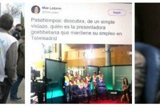 """Los vergonzosos tuits de la comisaria política de Podemos en Telemadrid: """"Descubra a la presentadora goebbeliana..."""""""