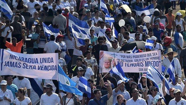 """""""Reclamamos paz y respeto a los derechos humanos en Nicaragua"""""""