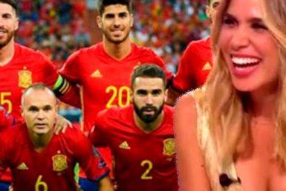 María Gómez ya es la nueva Sara Carbonero de la Selección Española