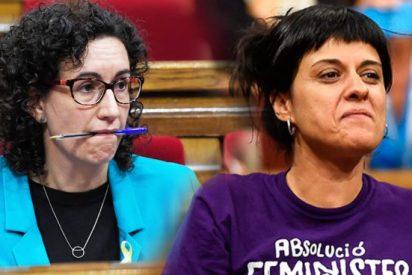 Marta Rovira se pone a dieta de butifarra y Anna Gabriel prepara con desgana las maletas