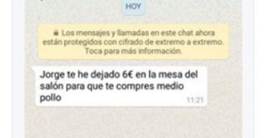 Despelote en las redes sociales con este mensaje de una madre a su hijo por WhatsApp