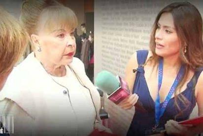 """Cabreo monumental de la actriz Gemma Cuervo contra 'Sálvame': """"¿De qué partido eres?"""""""