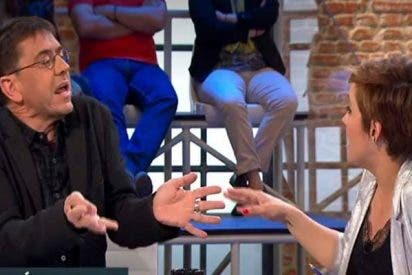 El podemita Monedero enloquece y arremete contra una espectadora en 'Liarla Pardo'