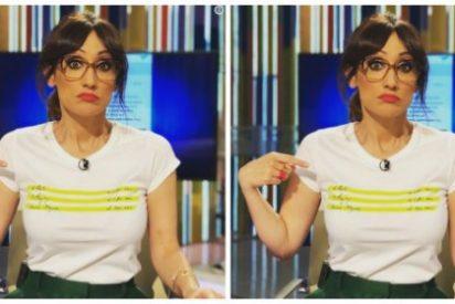 Twitter deja a la 'zapeadora' Ana Morgade como el 'Ecce Homo' por su camiseta sectaria