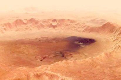 Así son las espectaculares imágenes inéditas del cráter Neukum de Marte