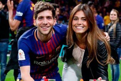 La alegre despedida de soltera de la novia de Sergi Roberto, jugador del Barcelona