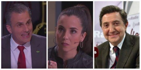 """Rosel (TV3) exige a Ortega (VOX) denunciar a Losantos y se lleva un soberbio zasca: """"Queréllese usted"""""""