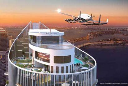 "Un Rascacielos de Miami con pista de aterrizaje para ""coches voladores"""